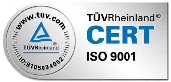 Siegel TÜV Rheinland ISO 9001