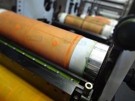 Flexo UV Farben auf Druckrolle