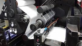 Thermopapier in Druckmaschine